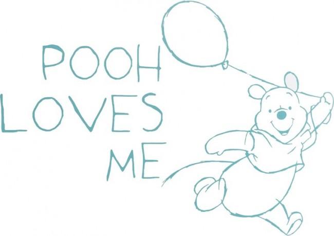 Winnie The Pooh Muursticker.Muursticker Pooh Fresh Mint Groot Anel Anel Babyartikelen