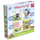 Woezel & Pip - 4 in 1 Puzzel afb 1