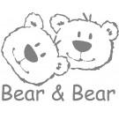 Muursticker Groot Bear & Bear Grijs 1