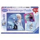 Frozen - Kinderpuzzel - 3x 49 Stukjes Ravensburger
