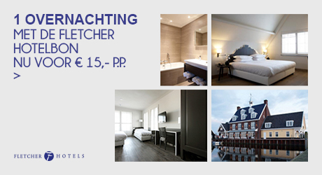 1 overnachting met de Fletcher Hotelbon - nu voor € 15,00 p.p. >